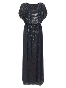 Perdita sequin full length dress