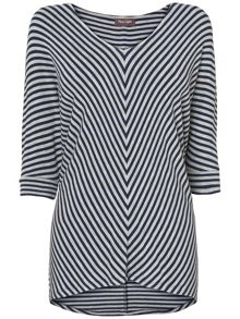 Mildred chevron stripe top