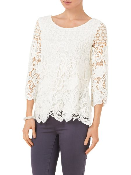 Phase Eight Shelley crochet lace blouse