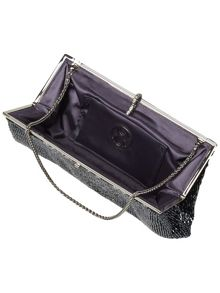 Lola bugle beaded clutch bag
