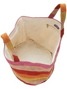 Shona stripe jute beach bag