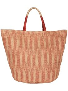 Suzie ikat jute beach bag