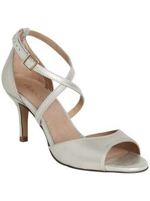 Bronte strappy metallic leather sandals