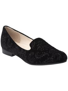 Cici velvet jaquard shoes