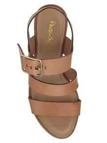 Bonnie leather wedge sandals