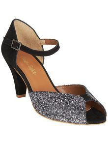 Tula glitter peep toe shoes