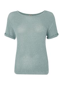 Knitted t-shirt with sparkle detail