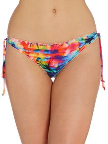 Seafolly Sonic bloom hipster tie side brief