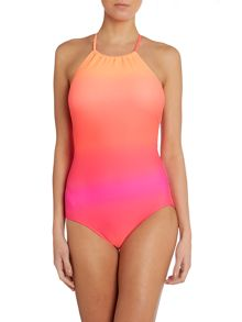 Miami high neck maillot swimsuit