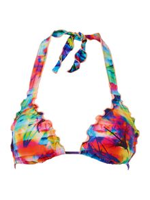 Sonic bloom slide triangle bikini top