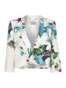 Marella Cropped floral print jacket