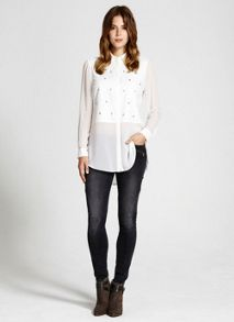 Ivory Stud Front Shirt
