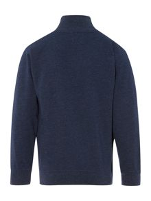 Boys Funnel Neck Sweater With Zip