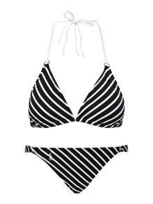 Riviera Stripe Triangle Top & Riley Ring Brief