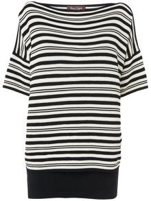 Ivanna stripe double layer knit