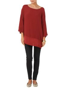 Amalia silk and crepe tunic