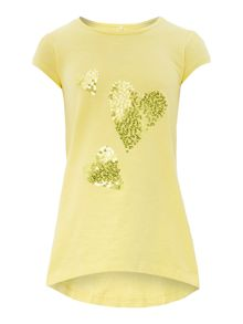 Girls Tunic Top With Heart Print
