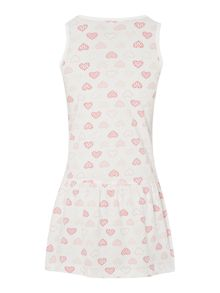 Girls heart printed dress