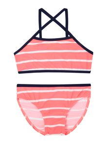 name it Girls Striped Tankini