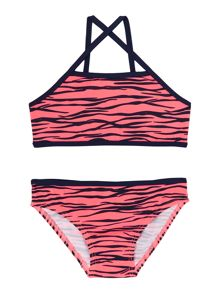 name it Girls Animal Print Tankini