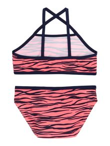 Girls Animal Print Tankini