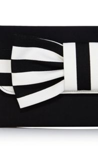 Mira stripe clutch