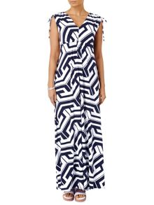 Grace graphic maxi dress