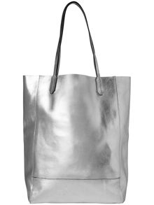 Avery leather shopping tote bag