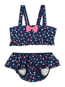 name it Girls Polka Dot Tankini
