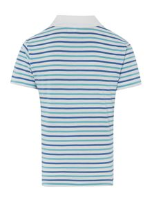 Boys short-sleeved jersey stripe polo