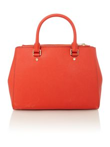 Sutton red medium tote bag