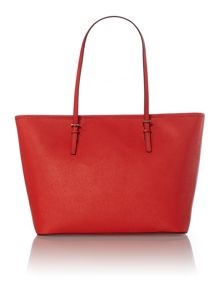 Jetset travel orange red tote bag
