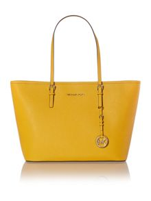 Jetset travel yellow tote bag
