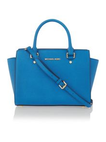 Selma blue medium tote bag