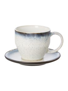 Linea Poole reactive teacup & saucer