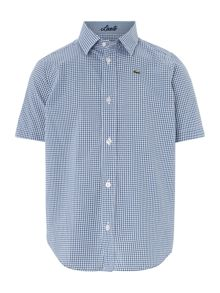 Boys short sleeved gingham shirt