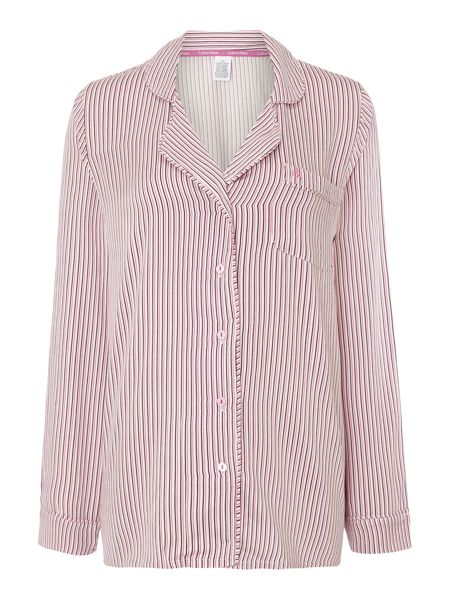 Calvin Klein Still Stripe long sleeved pyjama top
