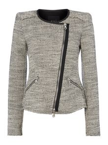Boucle jacket with sparkle detail