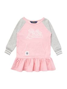 Girls Long Sleeved Polo Sweat Dress