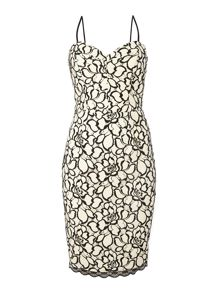 Lipsy Michelle Keegan lace cami bodycon dress