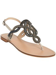 Phase Eight Kali embellished flat sandals