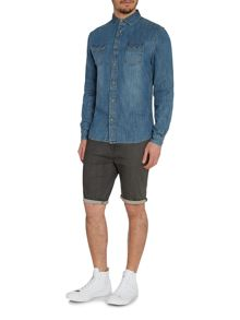 Poplar Mid Wash Denim Short