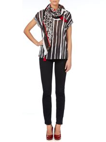 Tshirt with vertical stripes