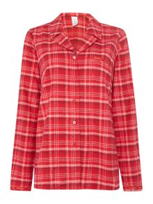 Calvin Klein Michael Plaid long sleeved pyjama top