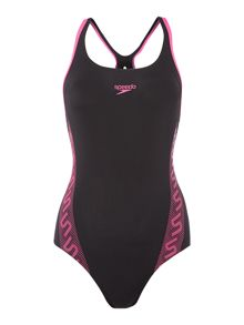 Speedo Monogram Muscleback Swimsuit