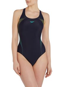 Speedo Placement Powerback Swimsuit