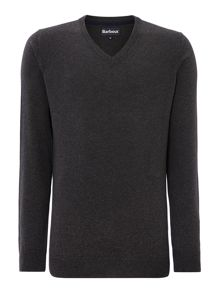 V-neck pima cotton jumper