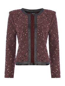 Boucle edge to edge jacket