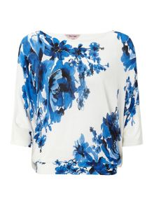 Bethany floral batwing knit jumper
