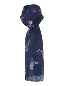 Bird Conversational Scarf